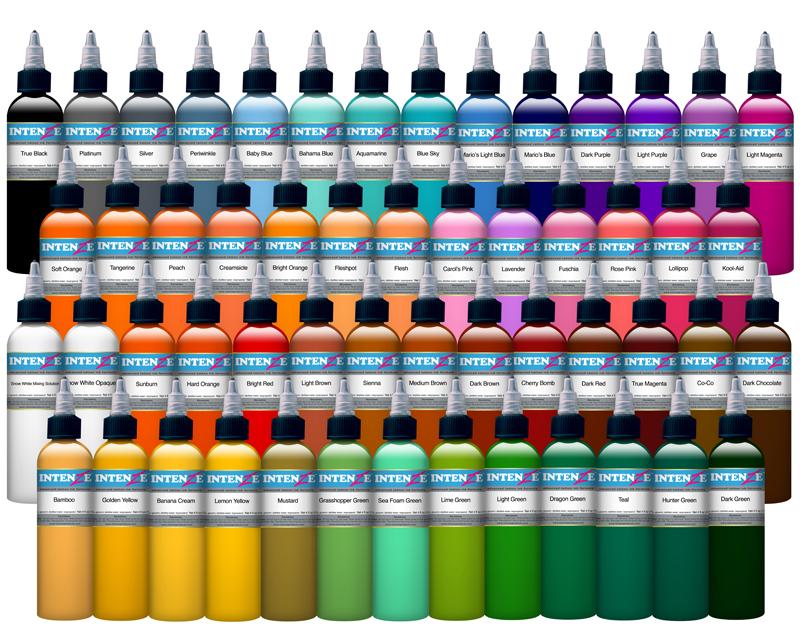 Intenze ink sets intenze ink tattoo inks worldwide for Intenze tattoo ink sets