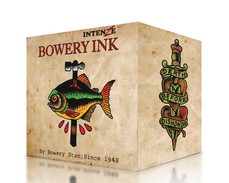 Bowery ink set intenze ink sets black ink tattoo for Intenze tattoo ink sets