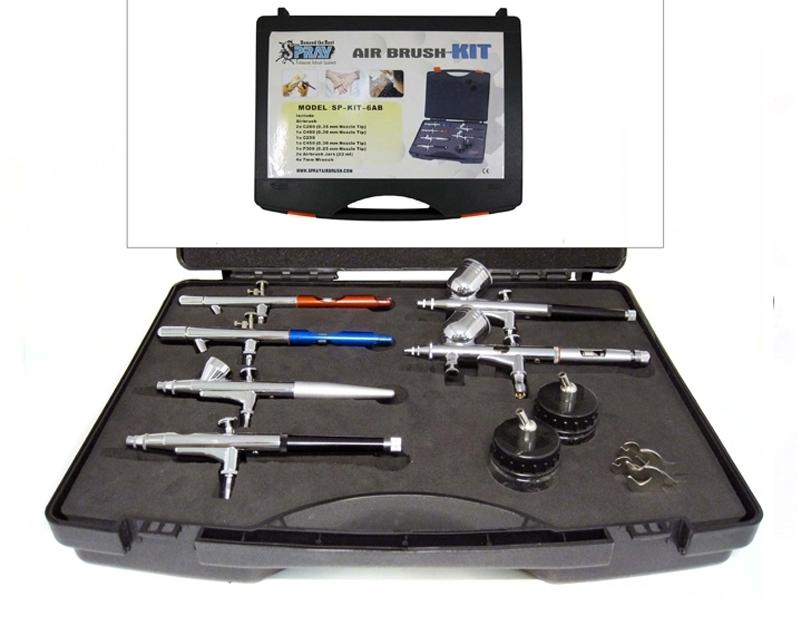 6 airbrush kit airbrush kits airbrush supplies for At home tattoo kit