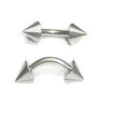 Stainless Steel Cone Curved Barbells