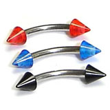 Curved Barbell with Coloured Cone